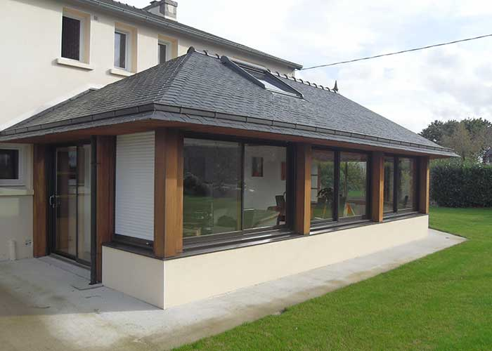extension maison bois 29